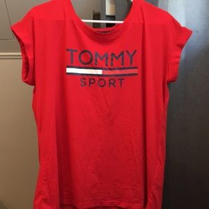 Red Tommy Hilfiger Sport Tee